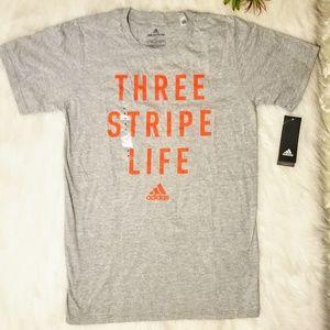 ADIDAS Climate 'Three Stripe Life' Tshirt